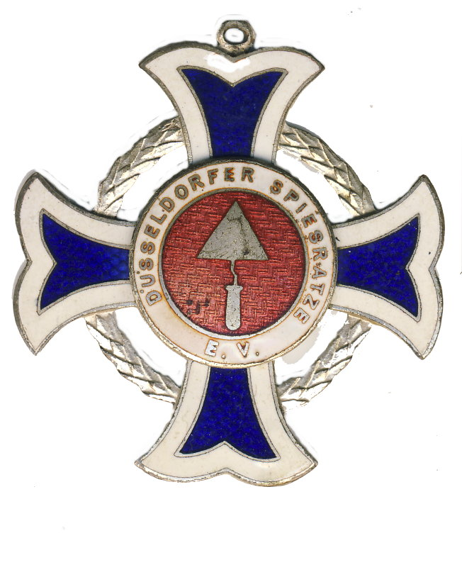 Rundes blaues Kreuz