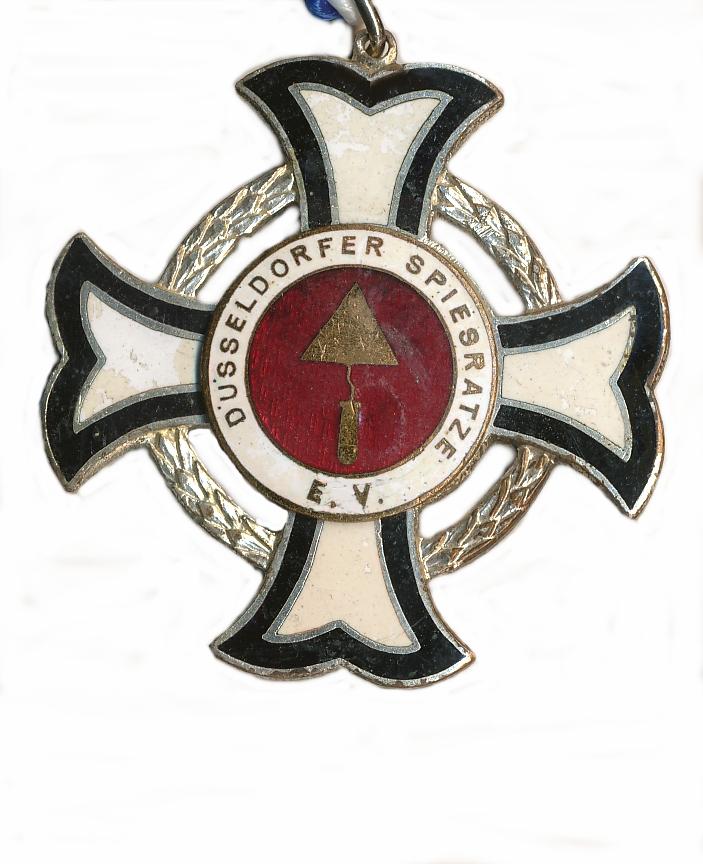 Rundes schwarzes Kreuz