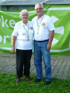 2011 die Sieger im Königsschießen: Roswitha Albert und Wolf Göris.