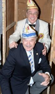 Jetzt dürfen sie sich Baumeister der Gesellschaft nennen: Wilhelm Rosenbaum (oben) und Heinz B. Nunnendorf.