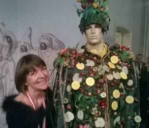 """Dr. Heike Spies während der Ausstellungseröffnung """"Goethe und der Karneval""""."""