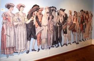 So verkleidet und maskiert wurde in Rom Ende des 18. Jahrhunderts Karneval gefeiert.