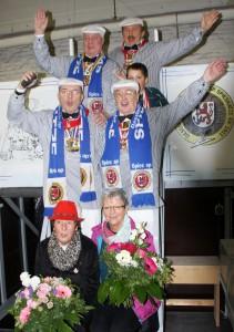 Das Wagenbau-Team; nicht im Bild Bernd Reinisch.
