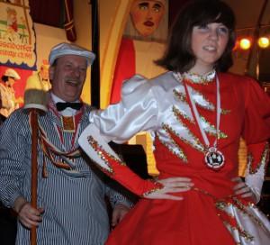 Zeremonienmeister Joachim Backert mit Tochter Tanja.