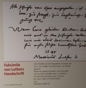 Goethe-Museum Lutherausstellung III.