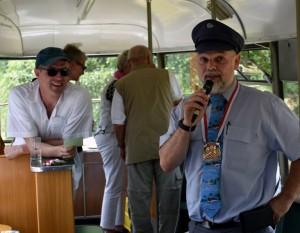Bahnfahrer Thomas Lensing mit dem Spiesratze-Orden.