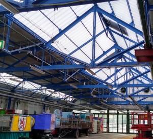 Wagenbauhalle neues Dach