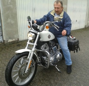 Lutz Strietzel als Biker